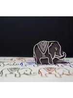 Blockwallah Blokstempel - Koninklijke olifant