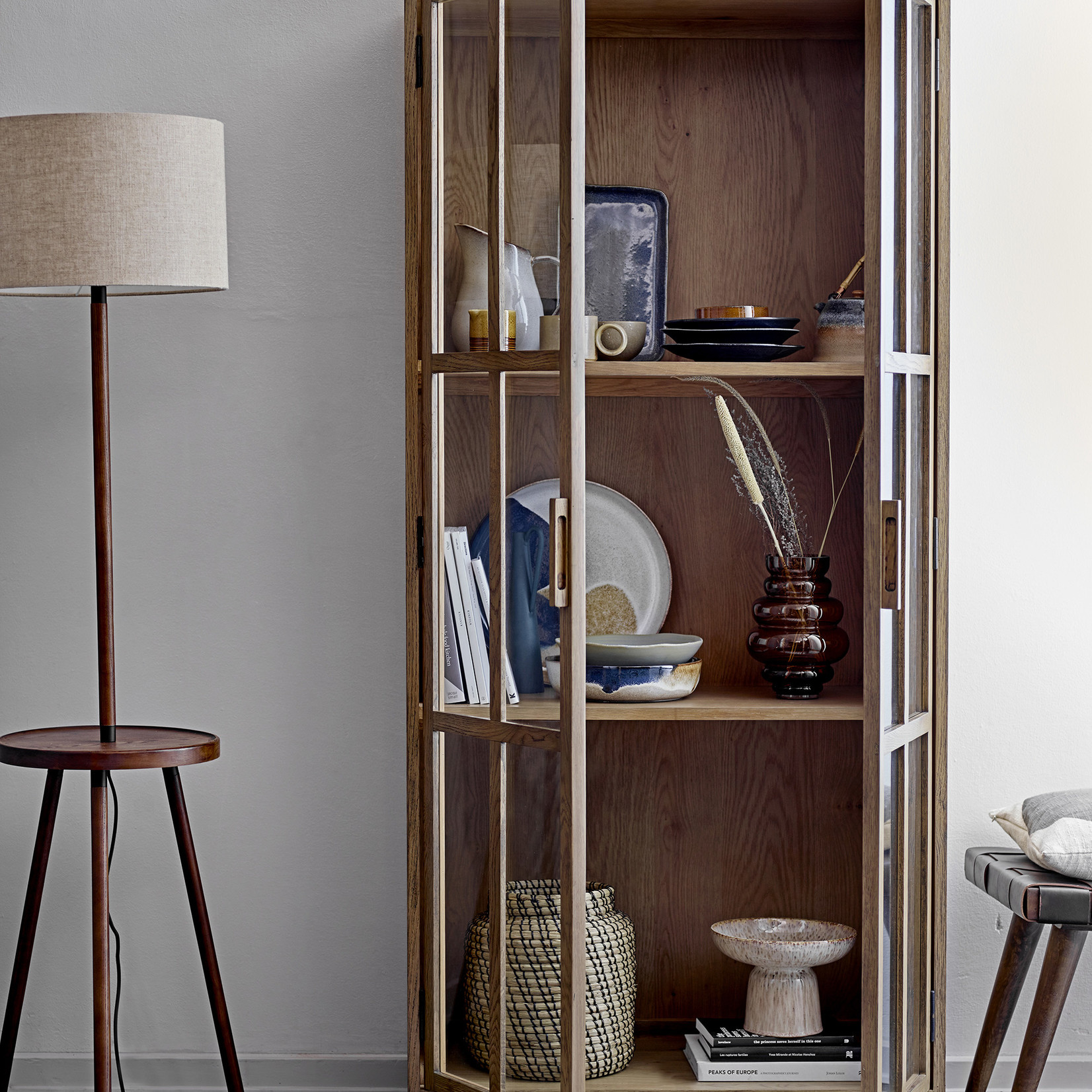 Bloomingville Achille Dienblad - bruin keramiek