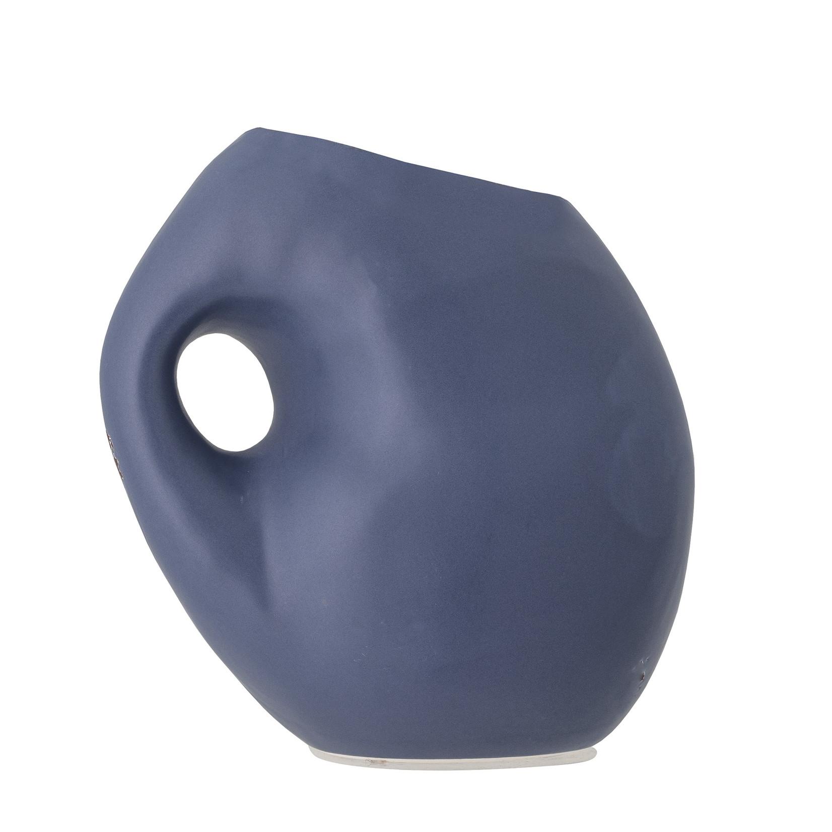 Bloomingville Asya Vaas - blauw keramiek