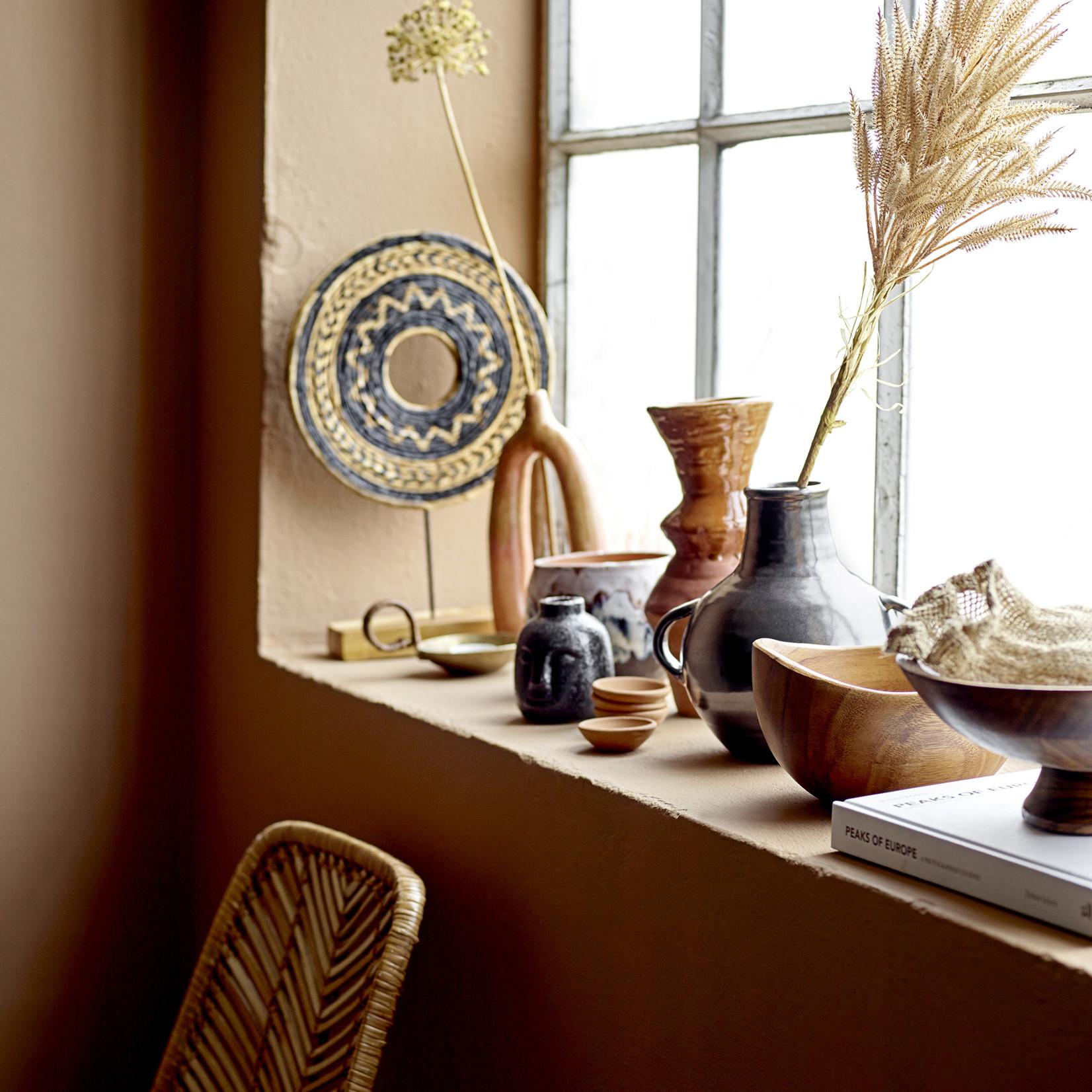 Bloomingville Baldrian Vaas - Oranje keramiek