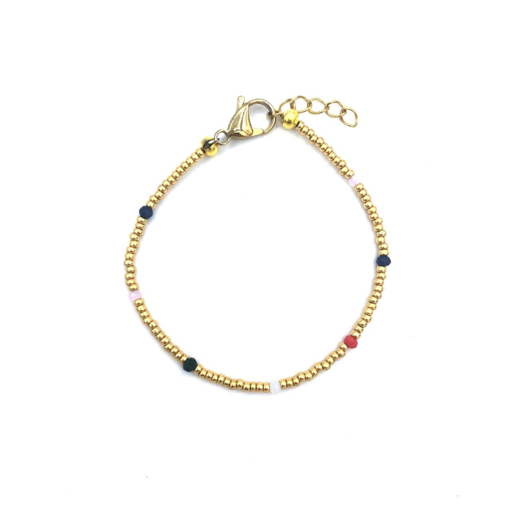 Boho Beach Armband Facet - goud