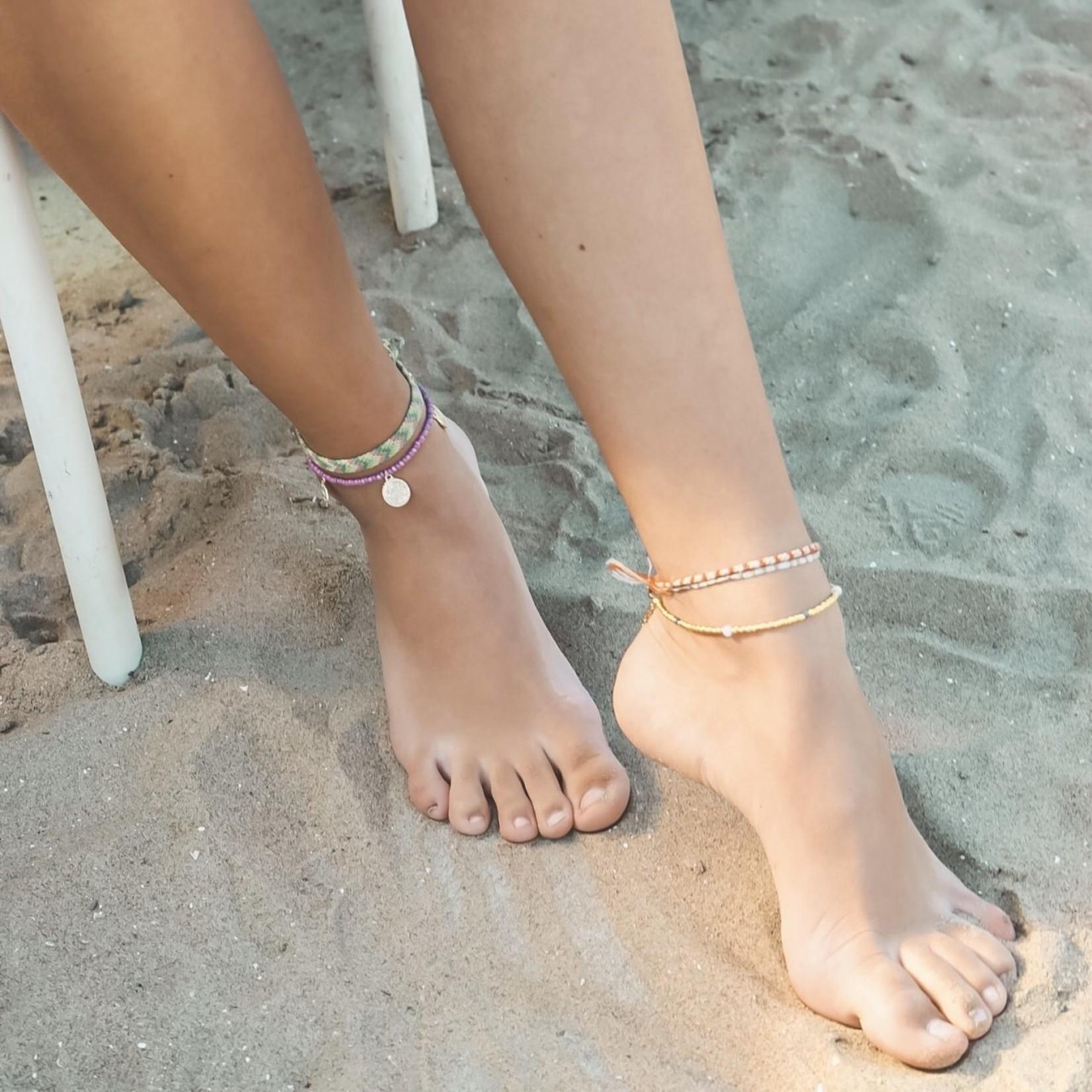 Boho Beach Enkelbandje Facet - goud
