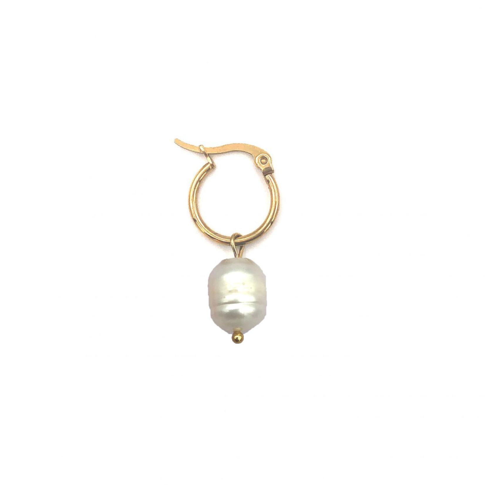 Boho Beach Oorbel Pearl - goud