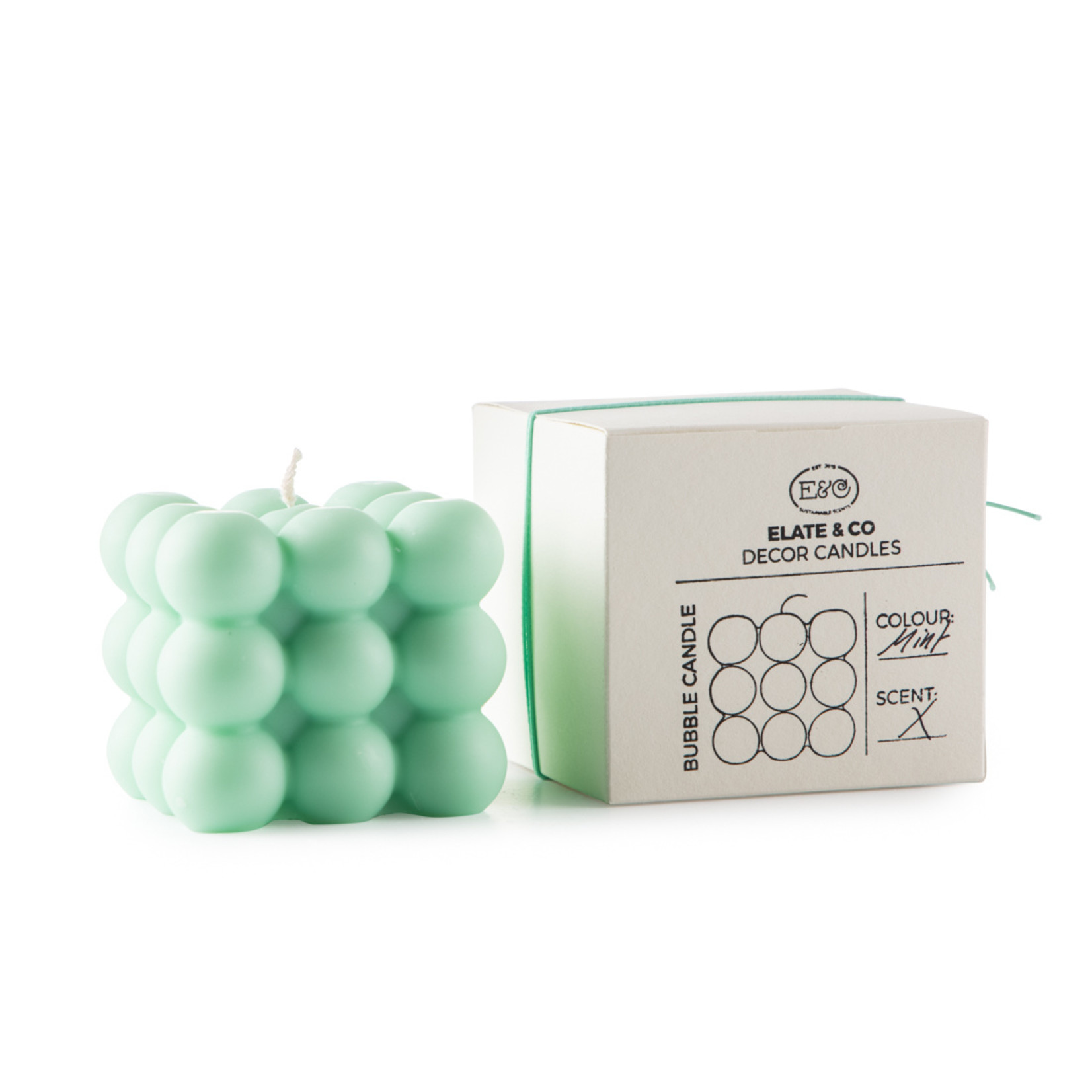 Elate & Co Kaars Bubble - mint