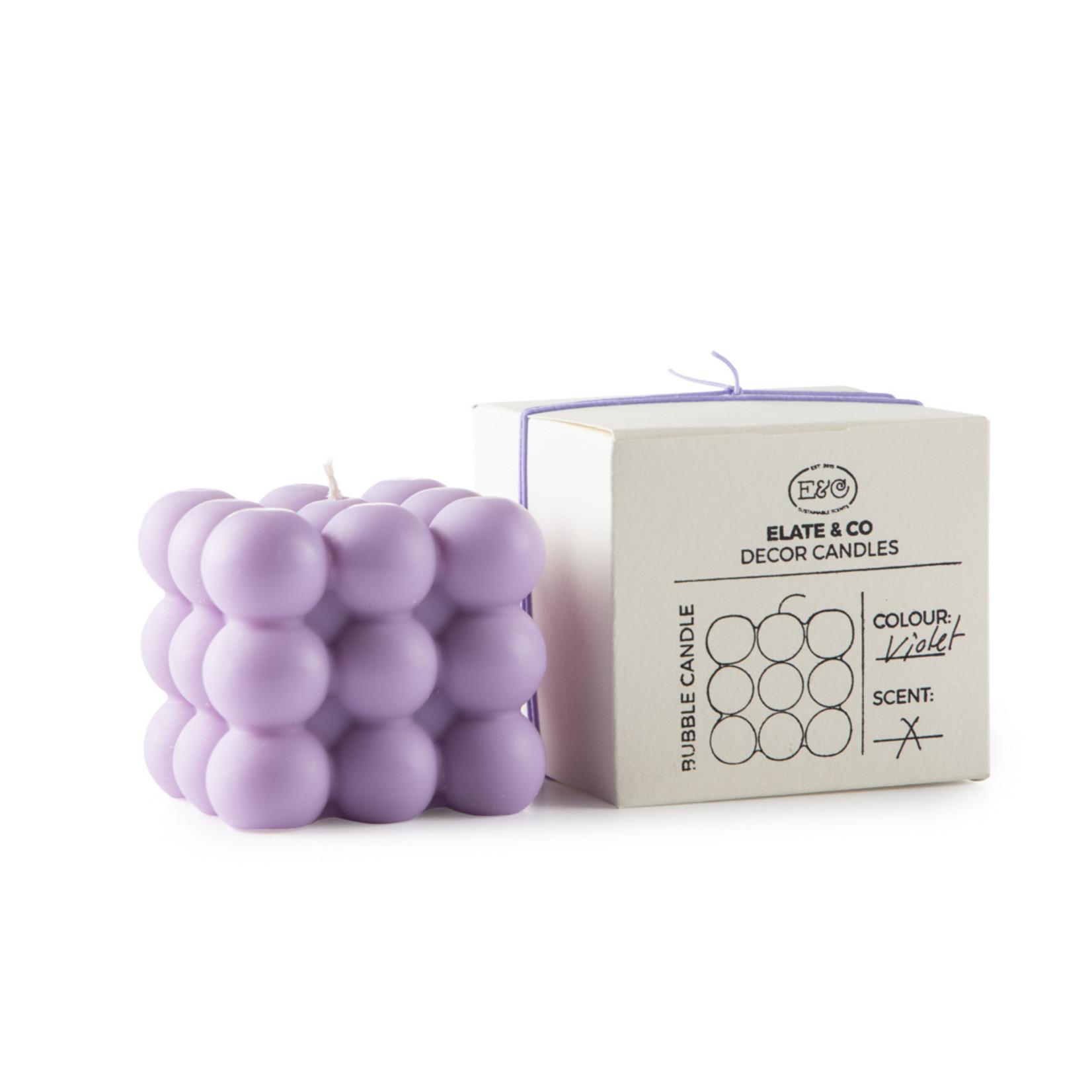 Elate & Co Kaars Bubble - violet