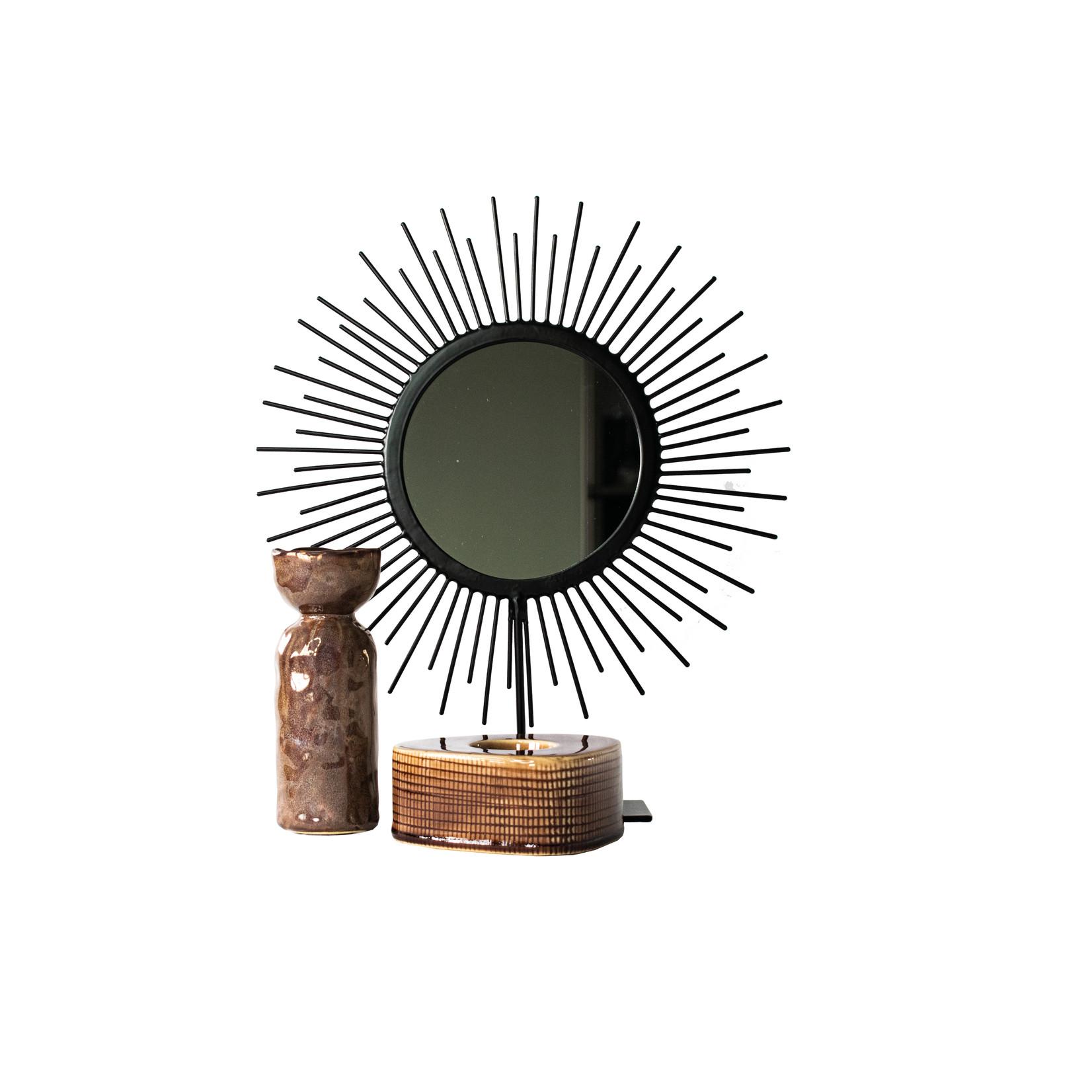 MrsBLOOM Spiegel Sun - zwart m