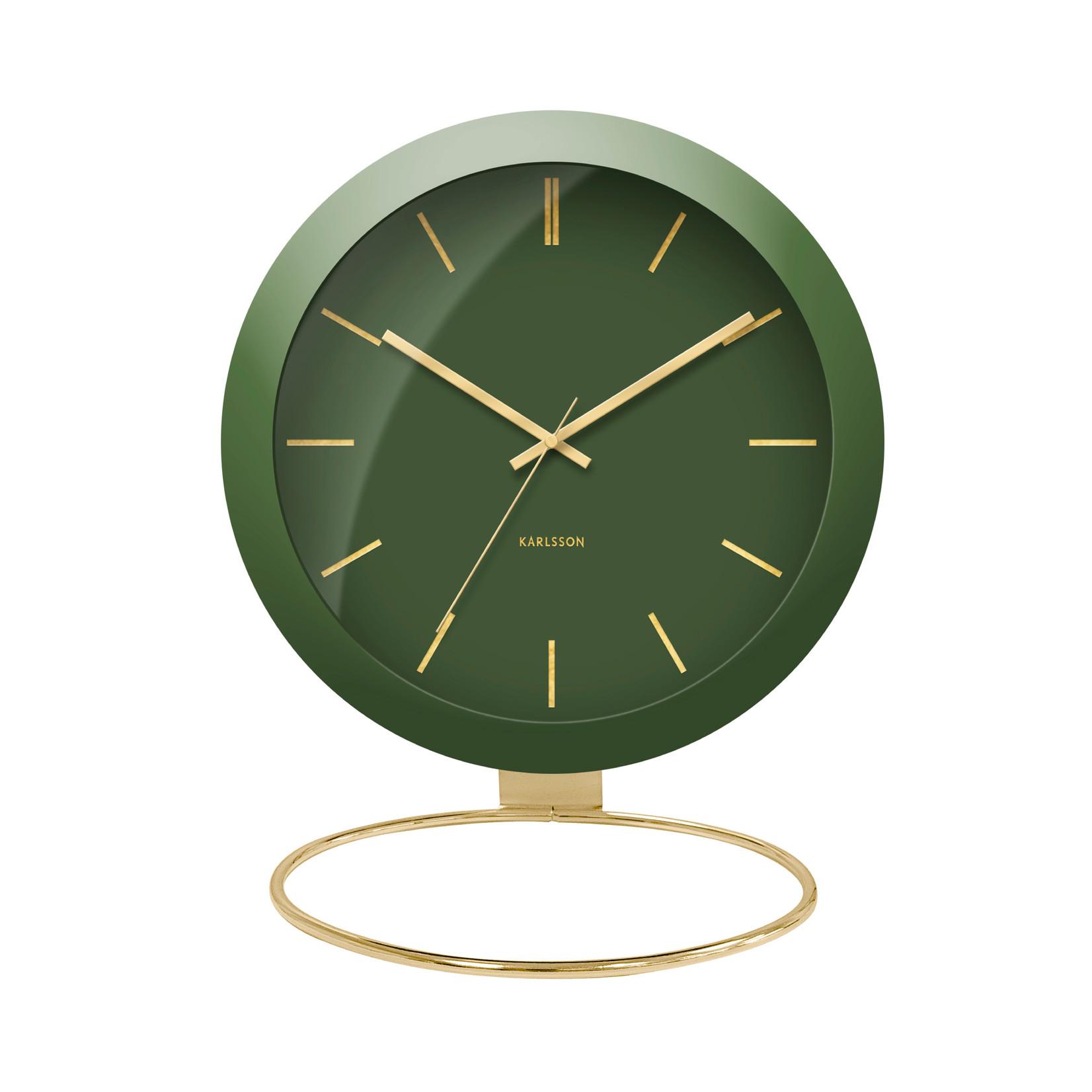 Present Time Klok Globe - groen