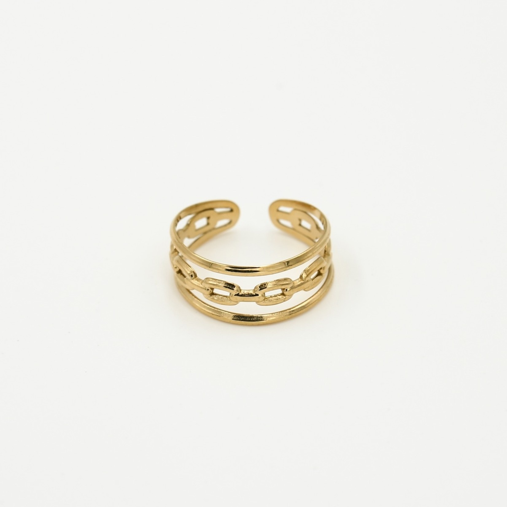 Sunset Fashion Ring 3 Laags - goud