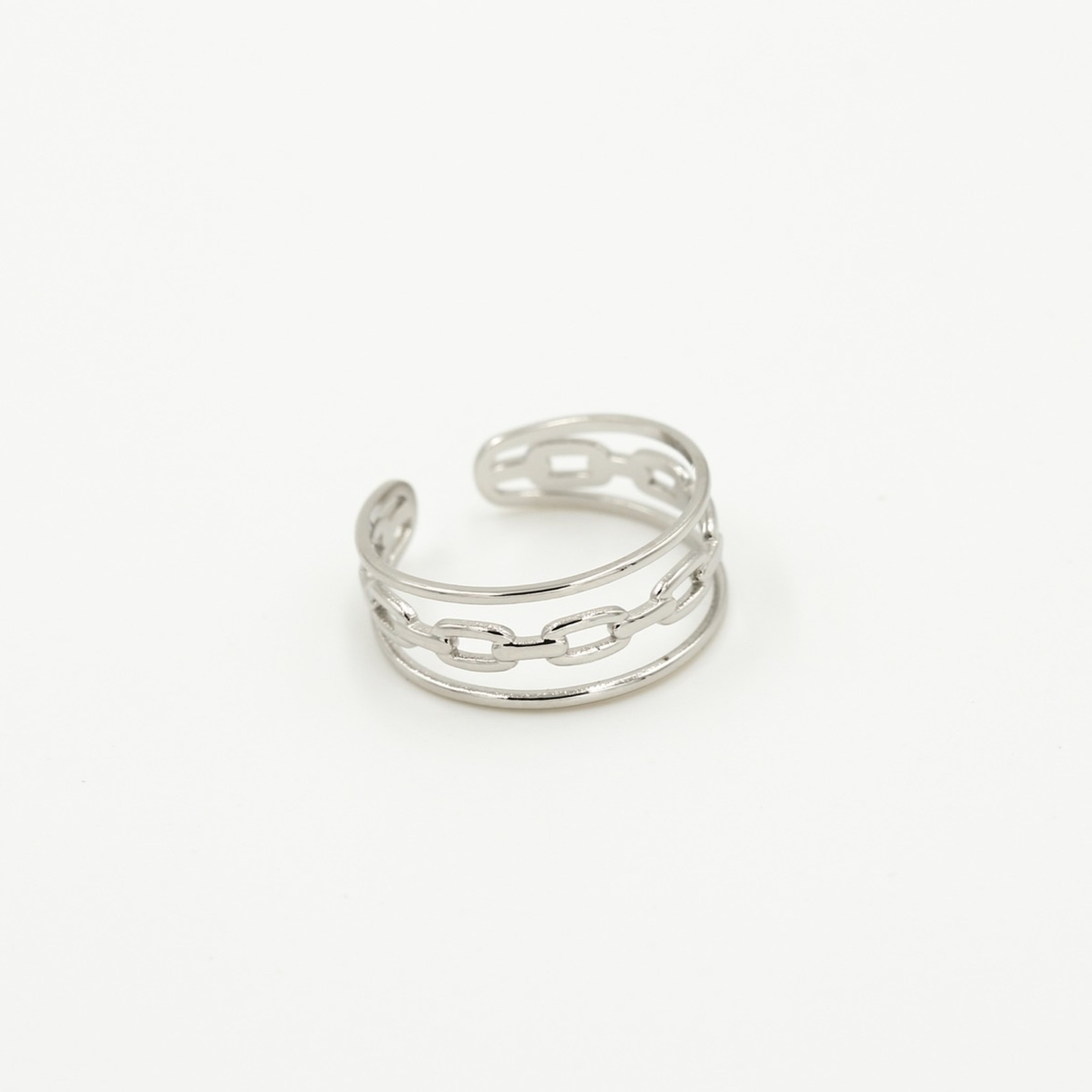Sunset Fashion Ring 3 Laags - zilver