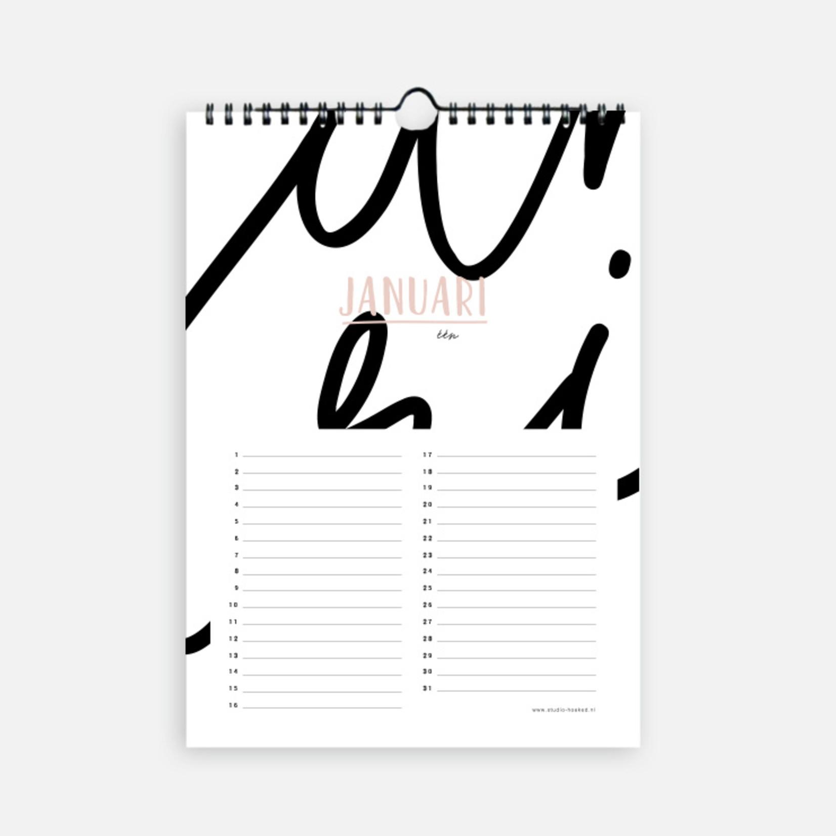Studio Hoeked Kalender  Celebrate