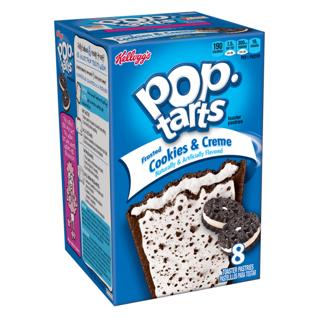 Kellogg's Pop Tarts - Frosted Cookies & Crème