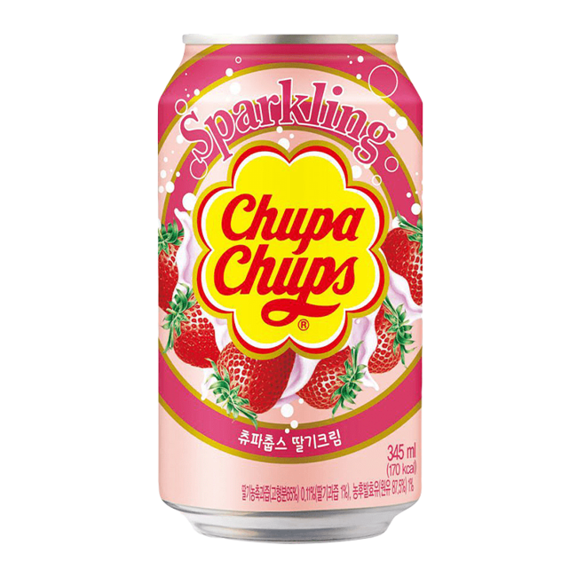 Chupa Chups Chupa Chups Sparkling Strawberry Cream Soda