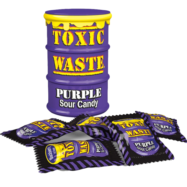 Candy Dynamics Toxic Waste Purple Sour Candy Drum 42 gr.