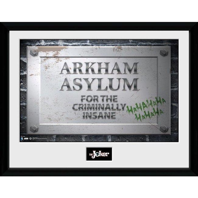 Batman Comic - Arkham Asylum Sign