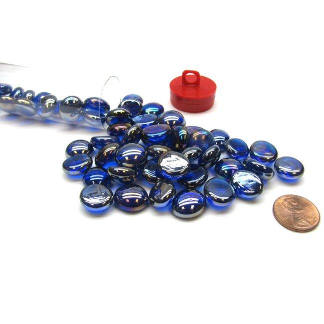 Chessex GAMING STONES DARK BLUE IRIDIZED CRYSTAL STONES