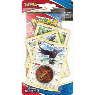The Pokémon Company international POKEMON TCG SWORD & SHIELD BATTLE STYLES PREMIUM CHECK - CORVIKNIGHT
