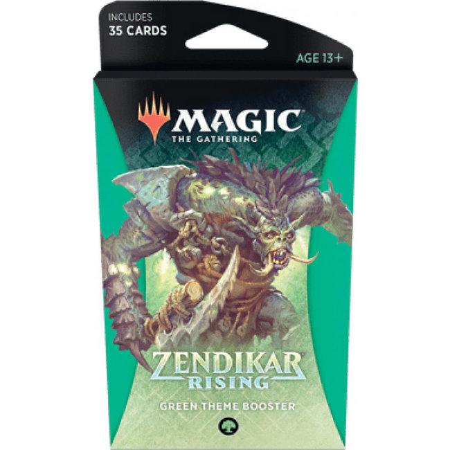 Wizards Of The Coast Magic the Gathering Zendikar Rising Theme Booster *Green*