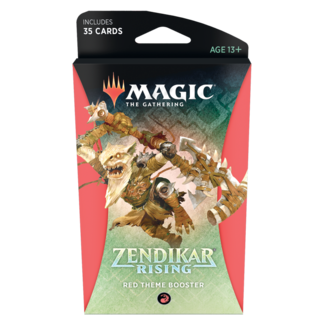 Wizards Of The Coast Magic the Gathering Zendikar Rising Theme Booster *Red*