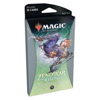 Wizards Of The Coast Magic the Gathering Zendikar Rising Theme Booster *Black*