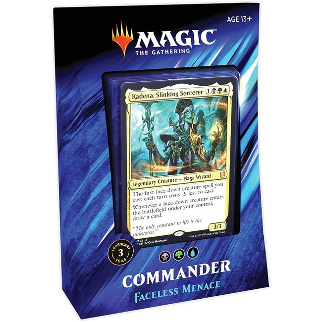 Wizards Of The Coast Commander 2019: Faceless Menace
