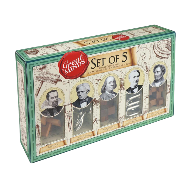 Professor Puzzle GREAT MINDS SET OF 5 PUZZLE