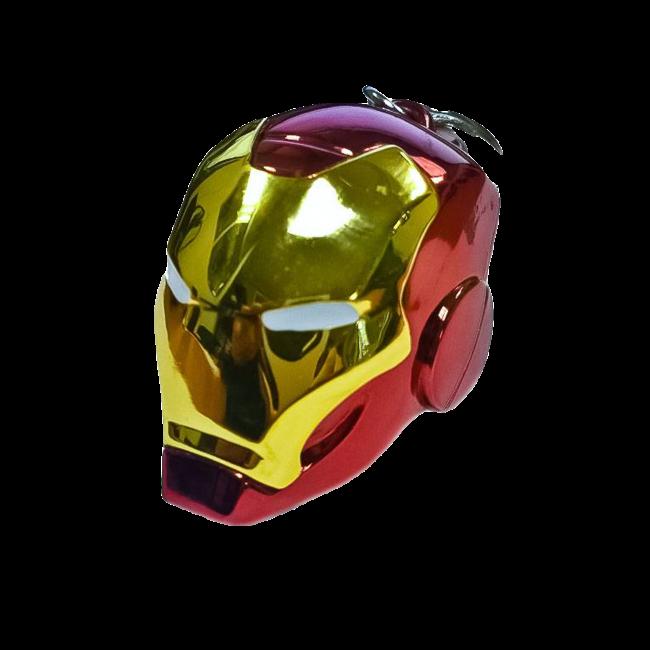 Semic Marvel Comics Metal Keychain Iron Man Helmet