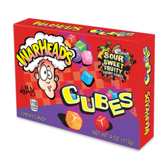 Warheads Chewy Cubes Box 113 gr.
