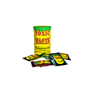 Candy Dynamics Toxic Waste Yellow Sour Candy Drum 42 gr.