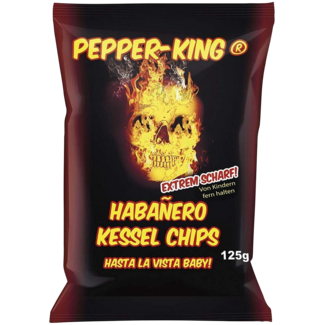 Pepper King Habanero Chips 125 gr.