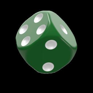 Oakie Doakie Dice D6 Dice 16 mm Solid - Green (12)