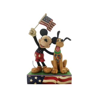 Enesco Disney Traditions - A Banner Day (Mickey and Pluto Patriotic Figurine)