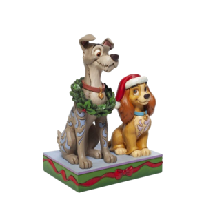 Enesco Disney Traditions - Decked out Dogs (Lady and the Tramp Figurine)