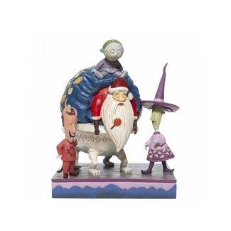 Enesco Disney Traditions - Lock, Shock and Barrel with Santa Figurine
