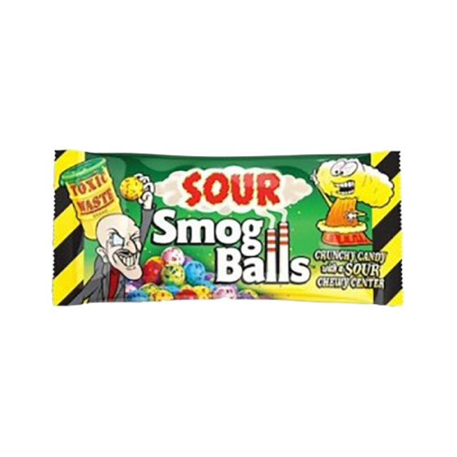 Candy Dynamics Toxic Waste Sour Smog Balls 48 gr.