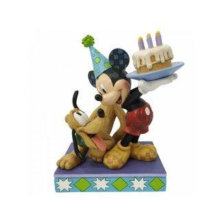 Enesco Disney Traditions - Pluto and Mickey Happy Birthday Pall Figurine