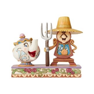 Enesco Disney Traditions - Workin Round The Clock Mrs Potts and Cogsworth