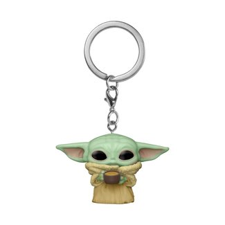 Funko Pocket Pop! Keychain: Star Wars The Mandalorian - The Child with Cup