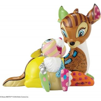 Enesco Disney by Britto Bambi with Thumper Stone Resin Figurine
