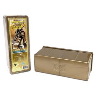 Dragon Shield STORAGE BOX DRAGON SHIELD 4 COMPART. - GOLD