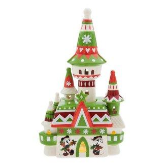 Disney Holiday Figurine - Fantasyland Castle - Nordic Winter Light-Up