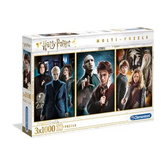 Clementoni Harry Potter Multi Jigsaw Puzzle Characters (3 x 1000 pieces)