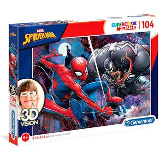 Clementoni Spider-Man Supercolor Puzzle 104 pcs