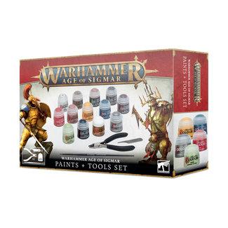 Games Workshop Warhammer Age of Sigmar: Paint + Tools Set