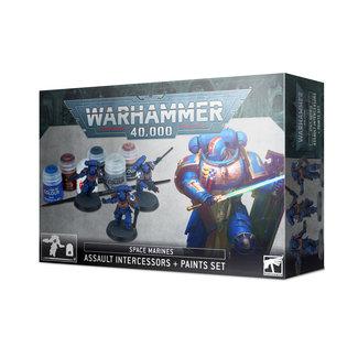 Games Workshop Space Marines Assault Intercessors and Paint Set