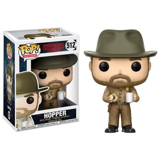 Funko Pop! Television: Stranger Things - Hopper with Donut