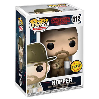 Funko Pop! Television: Stranger Things - Hopper with Donut Limited Chase Edition