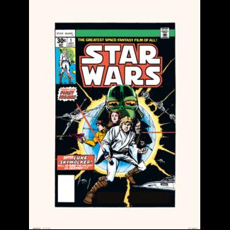 PRINT 30X40 CM STAR WARS 1 FIRST ISSUE