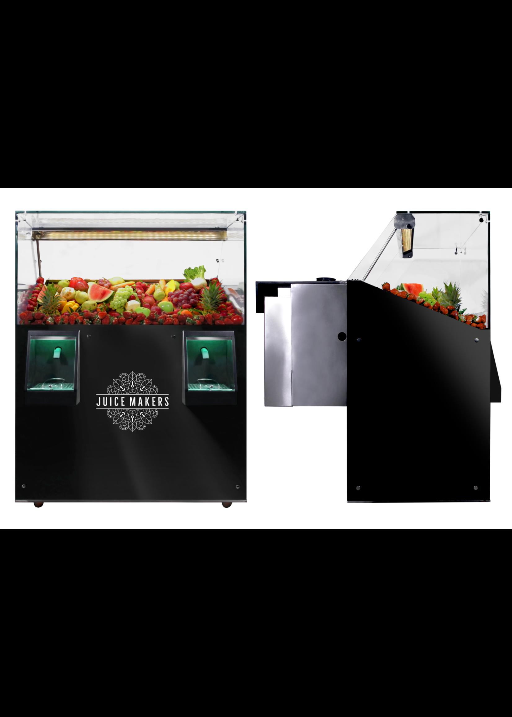 JuiceMakers Juicebar is een koeltoog met 1 of 2 sapapparaten