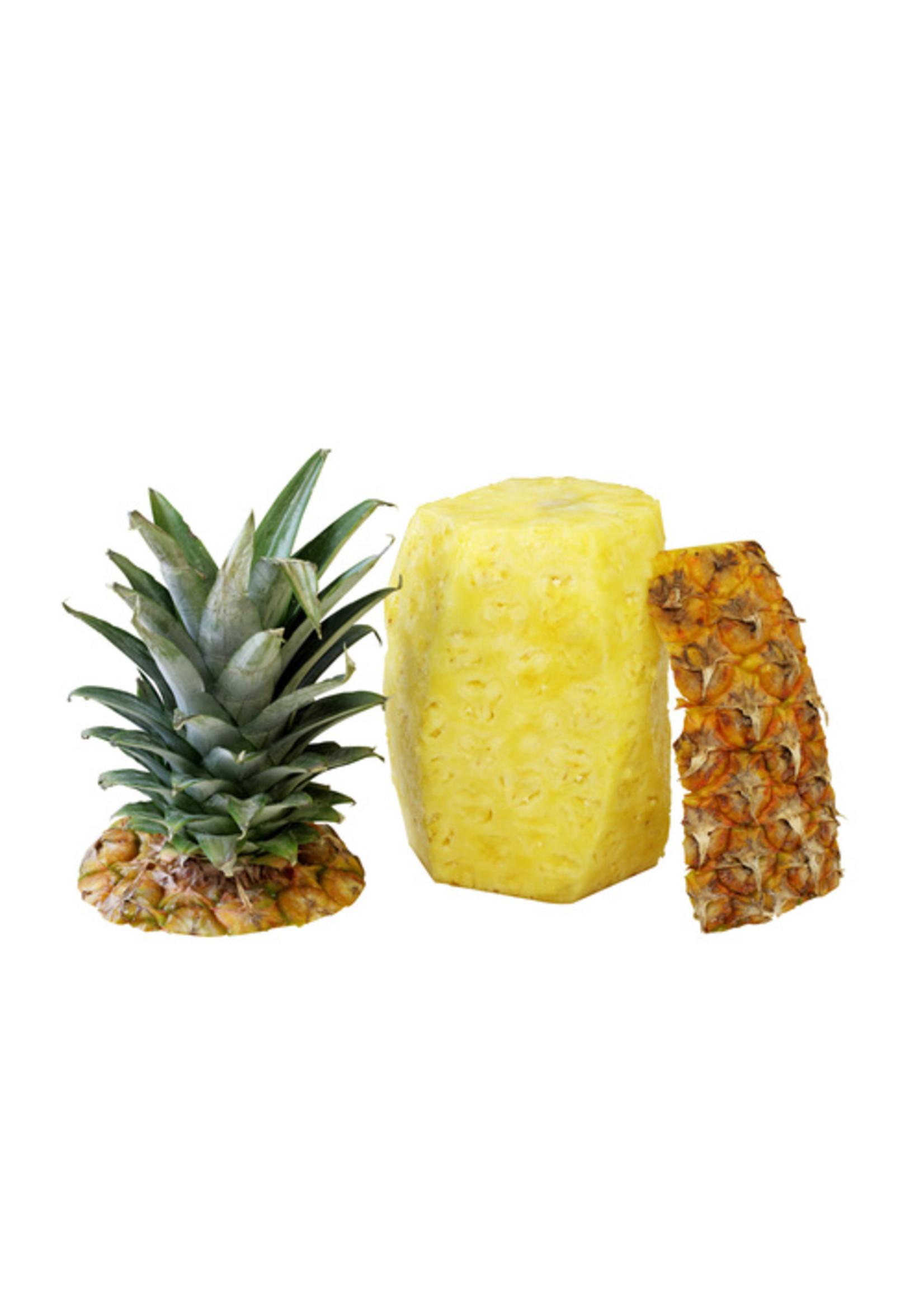 Ananas geschild met kern bak 3st stuk