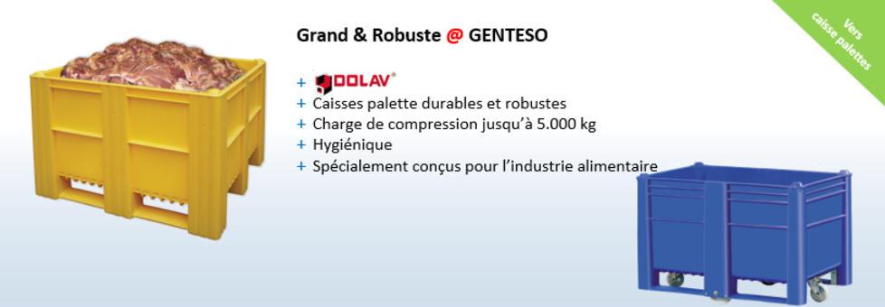 Caisses palettes, Dolav, usage industriel et agricole